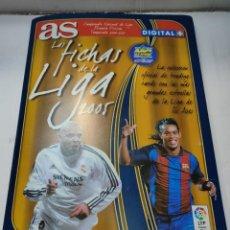 Coleccionismo Álbum: ALBUM LAS FICHAS DE LA LIGA 2005 CON 246 TRADE CARDS COMPLETO. Lote 283464838