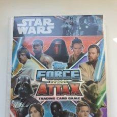 Coleccionismo Álbum: ALBUM STAR WARS FORCE ATTAX UNIVERSE COMPLETO. Lote 284408073