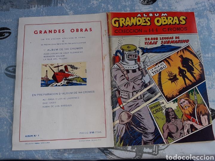 Coleccionismo Álbum: Álbum Grandes Obras, 20.000 Leguas de viaje submarino , La Isla del tesoro, Robinson Crusoe - Foto 2 - 285991208