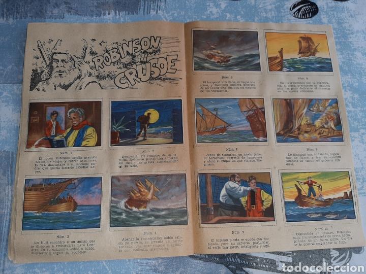 Coleccionismo Álbum: Álbum Grandes Obras, 20.000 Leguas de viaje submarino , La Isla del tesoro, Robinson Crusoe - Foto 6 - 285991208