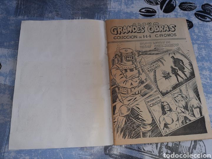 Coleccionismo Álbum: Álbum Grandes Obras, 20.000 Leguas de viaje submarino , La Isla del tesoro, Robinson Crusoe - Foto 7 - 285991208