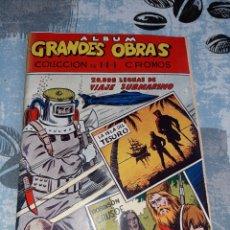Coleccionismo Álbum: ÁLBUM GRANDES OBRAS, 20.000 LEGUAS DE VIAJE SUBMARINO , LA ISLA DEL TESORO, ROBINSON CRUSOE. Lote 285991208