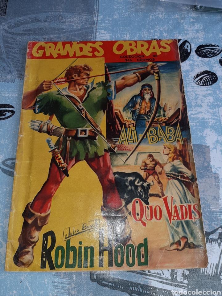 GRANDES OBRAS, ALI BABA, QUO VADIS, ROBIN HOOD, COMPLETO , EDITORIAL FERMA (Coleccionismo - Cromos y Álbumes - Álbumes Completos)