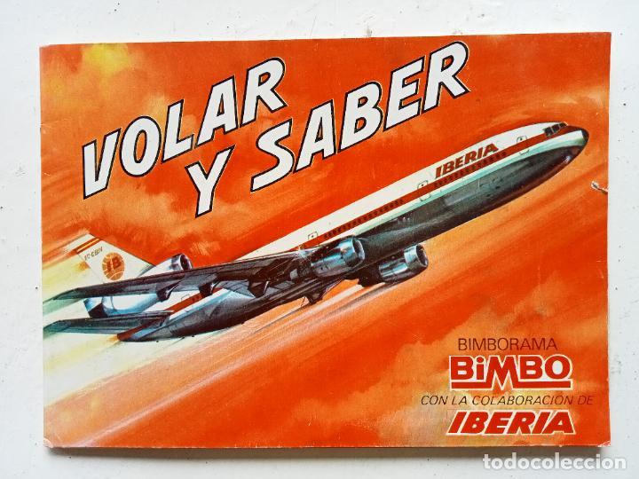 ÁLBUM VOLAR Y SABER, BIMBO, 1974, INCOMPLETO (Coleccionismo - Cromos y Álbumes - Álbumes Completos)