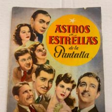 Coleccionismo Álbum: ASTROS Y ESTRELLAS DE LA PANTALLA ALBUM DE CROMOS COMPLETO, CROMOS CUIDADOSAMENTE PEGADOS. EXCELENTE. Lote 287445043
