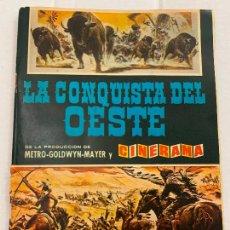 Coleccionismo Álbum: LA CONQUISTA DEL OESTE,1963, ALBUM DE CROMOS COMPLETO, CROMOS CUIDADOSAMENTE PEGADOS. EXCELENTE. Lote 287447968