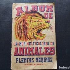 Coleccionismo Álbum: ALBUM CROMOS ANIMALES Y PLANTAS MARINAS. Lote 289818798