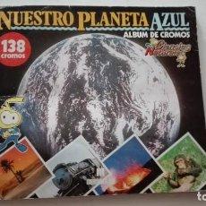 Coleccionismo Álbum: ALBUM CROMOS NUESTRO PLANETA AZUL. Lote 289820783