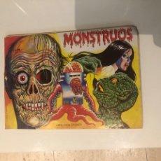 Collezionismo Álbum: MONSTRUOS. LIBRO PARA CROMOS. COMPLETO. 210 CROMOS. MUNDICROM. Lote 295274473