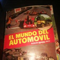 Collezionismo Álbum: ALBUM CROMOS COMPLETO 1977 BIMBO EL MUNDO DEL AUTOMÓVIL. Lote 295293298