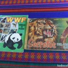 Coleccionismo Álbum: SECRETOS DEL MUNDO ANIMAL COMPLETO 320 CROMOS. ROLLÁN 1958. REGALO AENA WWF ANIMALES EN PELIGRO.. Lote 295623033