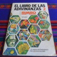 Coleccionismo Álbum: EL LIBRO DE LAS ADIVINANZAS 2 COMPLETO 266 CROMOS. BIMBO 1975.. Lote 295624203
