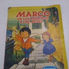 Coleccionismo Álbum: ÁLBUM DE CROMOS COMPLETO MARCO DE LOS APENINOS A LOS ANDES. DANONE. 1976. SERIE DIBUJOS ANIMADOS.. Lote 296020943