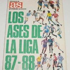 Álbum de fútbol completo: ALBUM DE CROMOS DE FUTBOL, LOS ASES DE LA LIGA 87-88, DE 21 X 30 CMS. DE 255 CROMOS. Lote 25897714