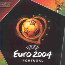 Álbum de fútbol completo: ALBUM DE CROMOS DE FUTBOL TOTALMENTE COMPLETO EUROCOPA EURO PORTUGAL 04 2004. Lote 22879084