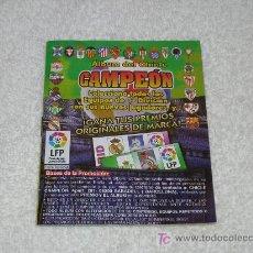 Álbum de fútbol completo: ÁLBUM DEL CHICLE CAMPEÓN. TEMPORADA 96/97. Lote 22683020