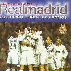 Álbum de fútbol completo: REAL MADRID: COLECCION OFICIAL DE CROMOS TEMPORADA 2000-2001 (MADRID, 2000). Lote 21677181