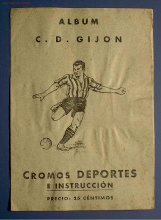 ÁLBUM C. D. GIJÓN. ¿SPORTING DE GIJÓN?. CROMOS DEPORTES E INSTRUCCION. EDITORIAL VALENCIANA, 1941. (Coleccionismo Deportivo - Álbumes y Cromos de Deportes - Álbumes de Fútbol Completos)