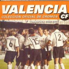 Álbum de fútbol completo: (AL-842)ALBUM CROMOS DE FUTBOL VALENCIA TEMPORADA 2000-2001 (COMPLETO). Lote 11235352