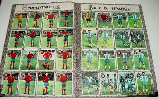 Álbum de fútbol completo: ANTIGUO ALBUM CROMOS COMPLETO DEL CAMPEONATO DE LIGA 1967 / 68 - FUTBOL - Album de Editorial Disgra - Foto 2 - 27301850