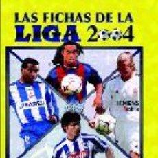 Álbum de fútbol completo: ALBUM ORIGINAL COMPLETO CON TODAS LAS VARIANTES DE FICHAS DE LA LIGA 2004 MUNDICROMO. Lote 26770339
