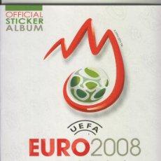 Álbum de fútbol completo: ALBUM DE CROMOS DE FUTBOL TOTALMENTE COMPLETO EURO 08 EUROCOPA 2008 ¡¡¡EN PERFECTO ESTADO!!. Lote 22879003