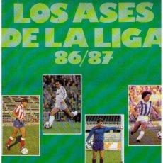 Álbum de fútbol completo: LOS ASES DE LA LIGA 86-87.AS. COMPLETO. Lote 22969527
