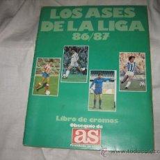 Álbum de fútbol completo: LOS ASES DE LA LIGA 86/87 SOLO TIENE 58 CROMOS DE 235. Lote 14068722