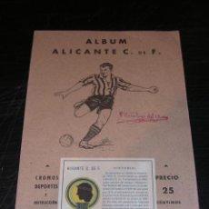 Álbum de fútbol completo: ALICANTE C DE F.- ALBUM COMPLETO , TEMPORADA 1941 - 42 , EDT. VALENCIANA , TIP. ARTISTICA. Lote 24997353