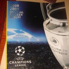 Álbum de fútbol completo: ALBUM CHAMPIONS 2008 2009 PANINI .PANINI . Lote 25566872