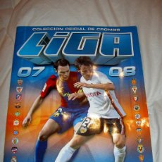 Álbum de fútbol completo: ALBUM CASI COMPLETO A FALTA DE DOS CROMOS EDICIONES ESTE LIGA FUTBOL 2007 2008 07 08. Lote 23567210