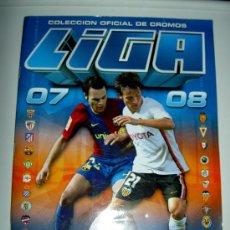 Álbum de fútbol completo: ALBUM CROMOS CON DOBLES Y COLOCAS EDICIONES ESTE LIGA FUTBOL 2007-2008 07-08 . Lote 22221260