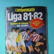 Álbum de fútbol completo: ÁLBUM FÚTBOL.LIGA 81-82.¡COMPLETO!. Lote 26737729