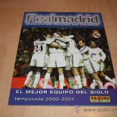 Álbum de fútbol completo: R. MADRID COLECCION OFICIAL DE CROMOS 2000-01 (ED. PANINI). Lote 20391962