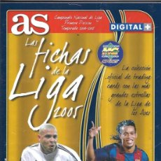Álbum de fútbol completo: LAS FICHAS DE LA LIGA 2005 AS. Lote 17342171