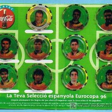 Álbum de fútbol completo: FÚTBOL. L'EUROCOPA 96. FITXA DE SELECCIONADOR. REGALO DE LOS REFRESCOS DE LA CASA COCA COLA.. Lote 19936695