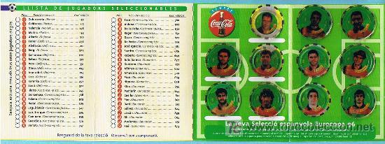 Álbum de fútbol completo: FÚTBOL. LEUROCOPA 96. FITXA DE SELECCIONADOR. REGALO DE LOS REFRESCOS DE LA CASA COCA COLA. - Foto 3 - 19936695