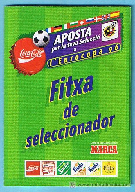 Álbum de fútbol completo: FÚTBOL. LEUROCOPA 96. FITXA DE SELECCIONADOR. REGALO DE LOS REFRESCOS DE LA CASA COCA COLA. - Foto 2 - 19936695
