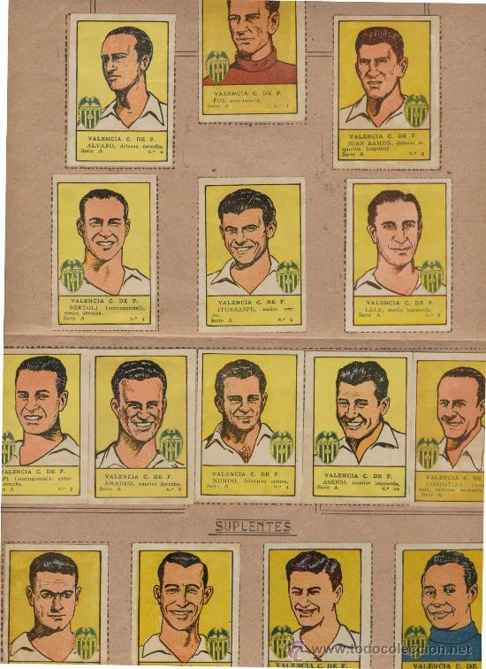 Álbum de fútbol completo: (AL-1018)ALBUM CROMOS DE FUTBOL VALENCIA C.F.(COMPLETO)EDITORIAL VALENCIANA 1941-42 - Foto 2 - 19422367