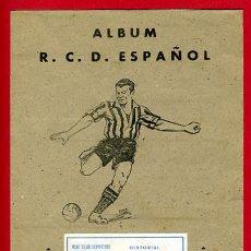 Álbum de fútbol completo: ALBUM FUTBOL COMPLETO , ORIGINAL , R.C.D. ESPAÑOL , EDITORIAL VALENCIANA. Lote 26984667
