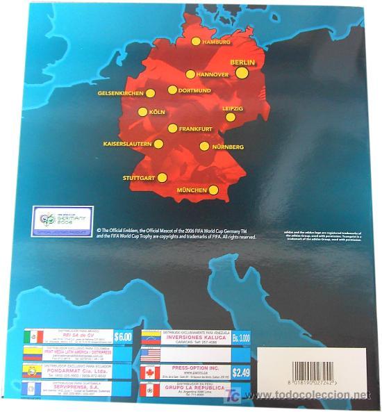 Álbum de fútbol completo: LOTE4149 Album Mundial 2006 Edición Americana - Foto 2 - 25018178