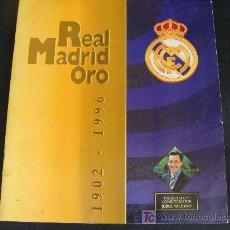 Álbum de fútbol completo: ÁLBUM DE CROMOS DE FÚTBOL REAL MADRID 1902 - 1996. REAL MADRID ORO. JORGE VALDANO. . Lote 20916922