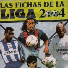 Álbum de fútbol completo: LAS FICHAS DE LA LIGA 2004. MUNDI CROMO. ÁLBUM CON 685 FICHAS.. Lote 21344974