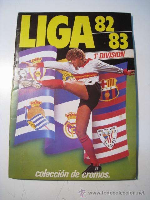 LIGA 82 83 - ESTE - ALBUM CROMOS COMPLETO (Coleccionismo Deportivo - Álbumes y Cromos de Deportes - Álbumes de Fútbol Completos)