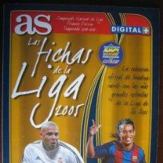 Álbum de fútbol completo: LAS FICHAS DE LA LIGA 2005. ALBUM CON 177 FICHAS. . Lote 26560079