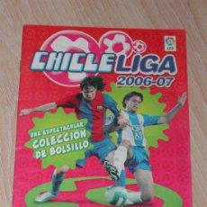 Álbum de fútbol completo: ALBUM CROMOS FUTBOL - CHICLE LIGA 2006/2007 - PANINI. Lote 27546558