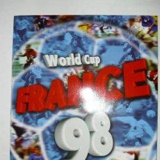 Álbum de fútbol completo: ALBUM COMPLETO FRANCIA 98 EDITORIAL DS.PREGUNTA TUS FALTAS.. Lote 23339578