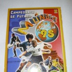 Álbum de fútbol completo: ALBUM VACIO MUNDIAL FRANCIA 98 - EDICIONES ESTADIO. Lote 23340700