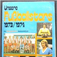 Álbum de fútbol completo: ALBUM DE CROMOS BUNDESLIGA 1973-1974 - ED. BERGMANN (ALEMANIA) - 100% COMPLETO. Lote 27357503