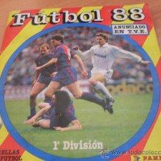 Álbum de fútbol completo: FUTBOL 88 1 ª DIVISION PANINI COMPLETO. Lote 26733578